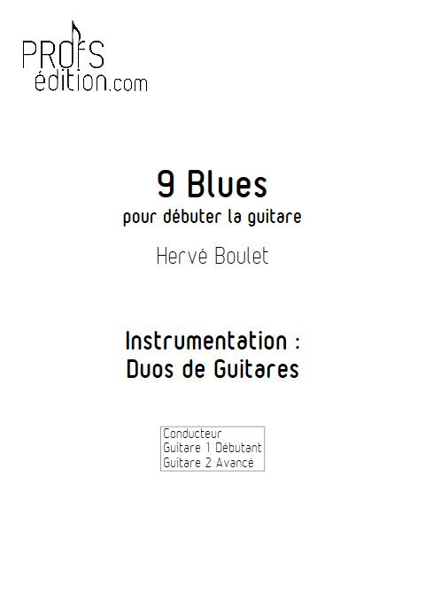 9 blues - Duos de Guitares - BOULET H. - front page