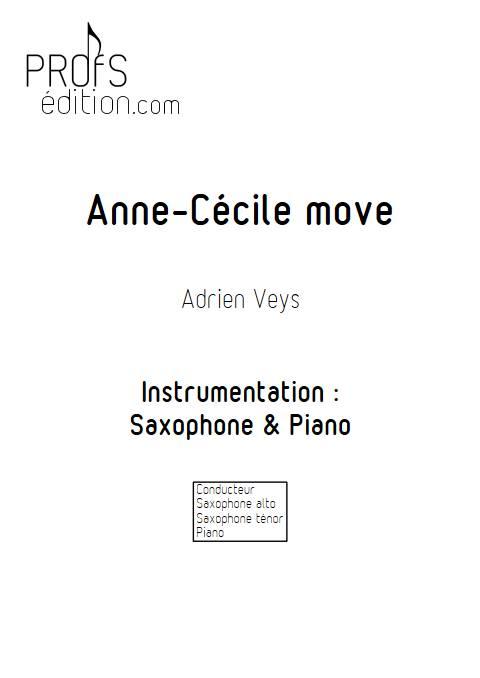Anne-Cécile move - Duo Saxophone Piano - VEYS A. - front page
