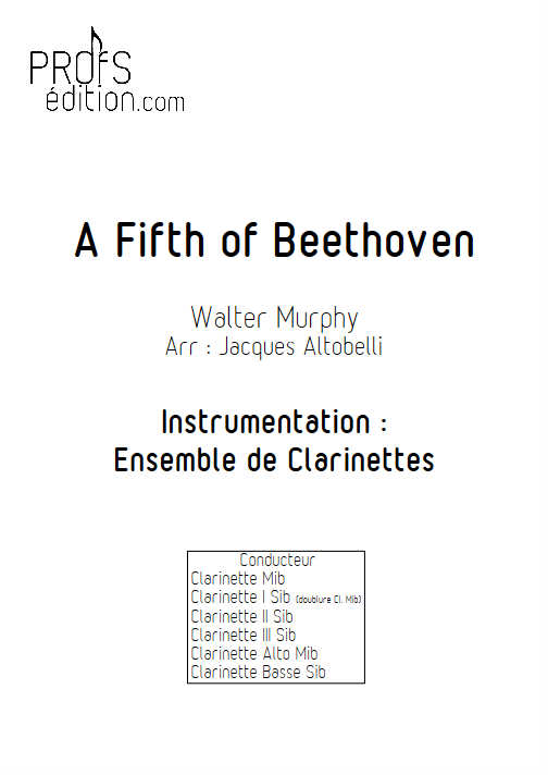 A Fifth of Beethoven (Saturday Night Fever) - Quintette Clarinettes - MURPHY W. - front page