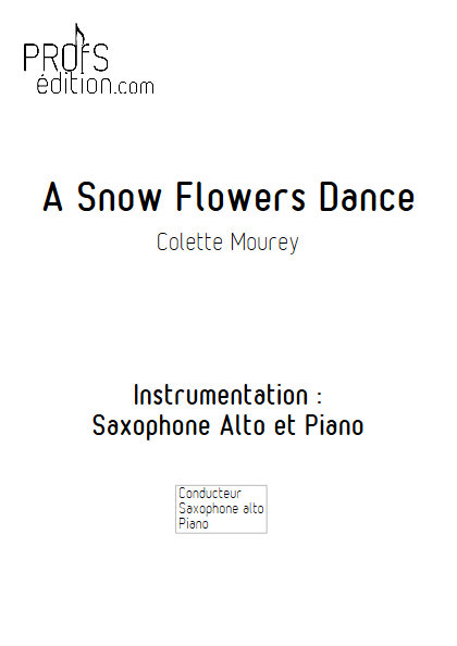 A Snow Flowers Dance - Duo Saxophone & Piano - MOUREY C. - front page