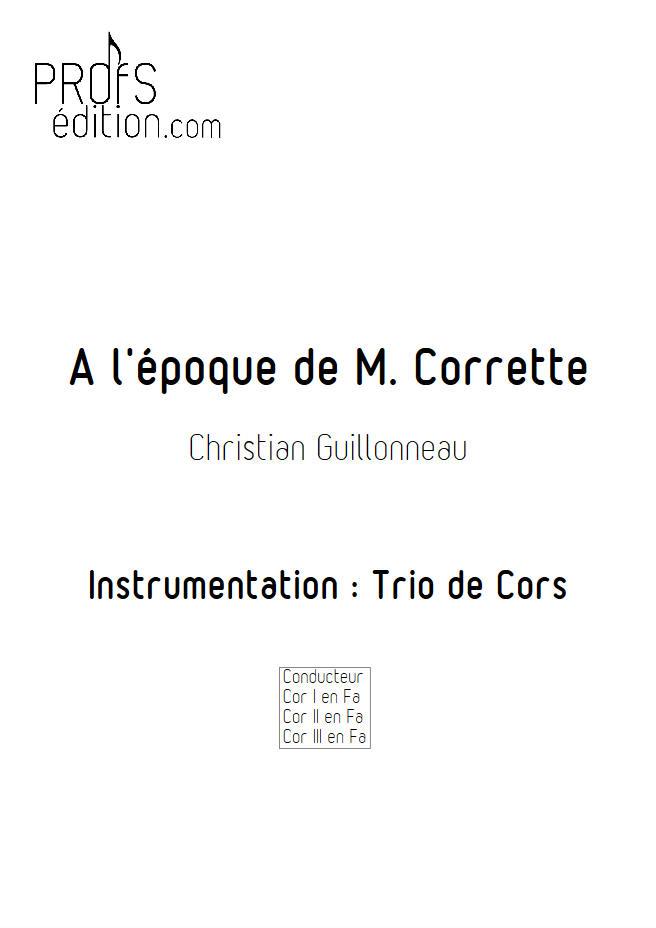 A l'époque de Mr Corrette - Trio Cors - GUILLONNEAU C. - front page