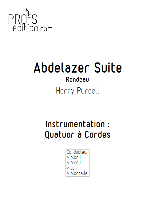Rondeau (Abdelazer Suite) - Quatuor à cordes - PURCELL H. - front page