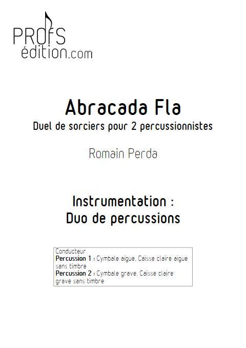 Abracada Fla - Duo Percussions - PERDA R. - front page