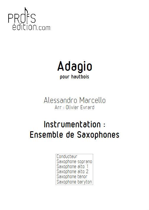 Adagio - Ensemble de Saxophones - MARCELLO A. - front page