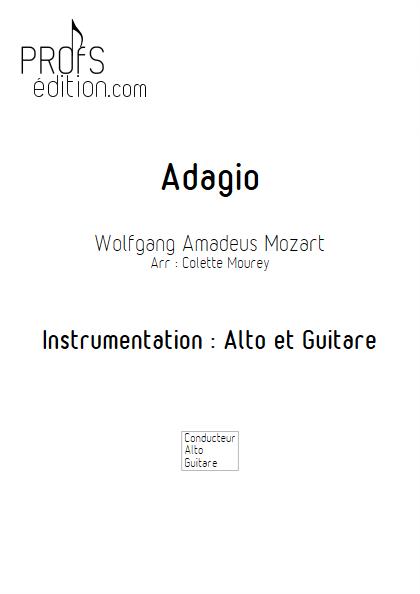 Adagio - Alto et Guitare - MOZART W. A. - front page