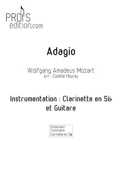 Adagio - Clarinette et Guitare - MOZART W. A. - front page
