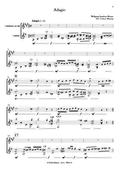 Adagio - Clarinette et Guitare - MOZART W. A. - app.scorescoreTitle