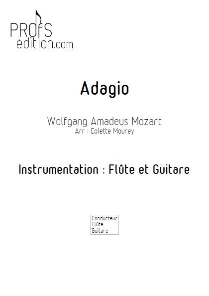 Adagio - Flûte et Guitare et Guitare - MOZART W. A. - front page