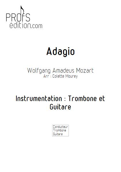 Adagio - Trombone et Guitare et Guitare - MOZART W. A. - front page