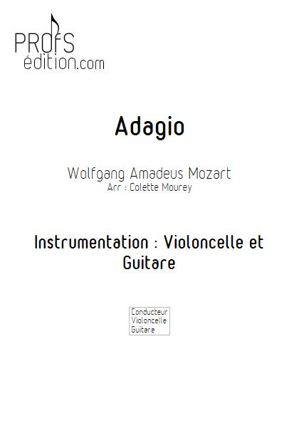 Adagio - Violoncelle et Guitare et Guitare - MOZART W. A. - front page