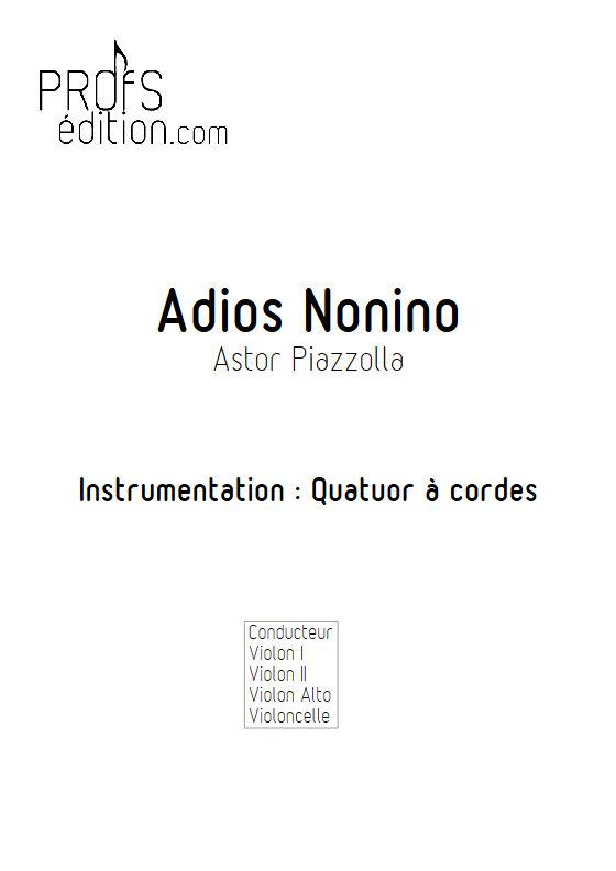 Adios Nonino - Quatuor à Cordes - PIAZZOLA A. - app.scorescoreTitle