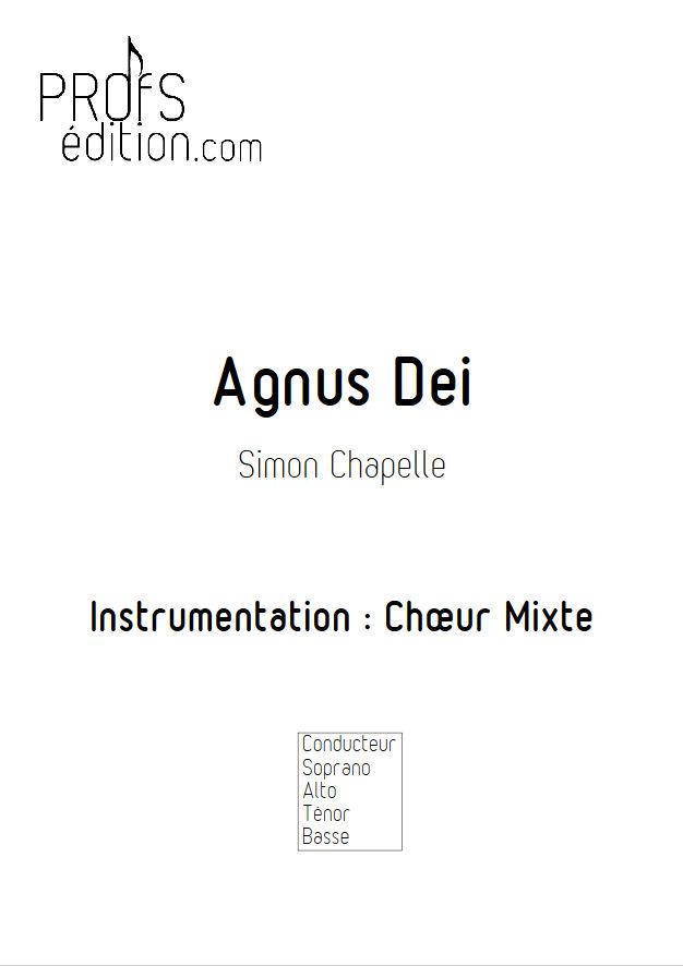 Agnus Dei - Chœur Mixte - CHAPELLE S. - front page