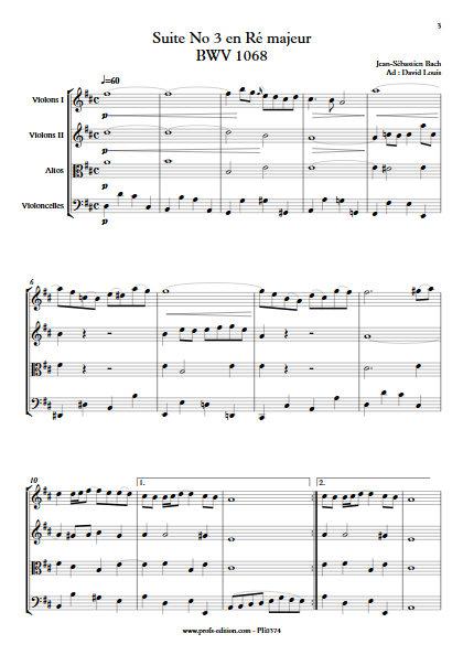Air on G String - Quatuor à Cordes- BACH J.S. - app.scorescoreTitle