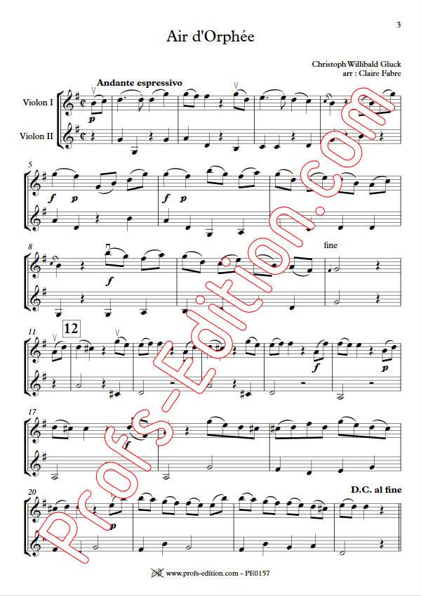 Air d'Orphée - Duo Violons - GLUCK C. W. - app.scorescoreTitle
