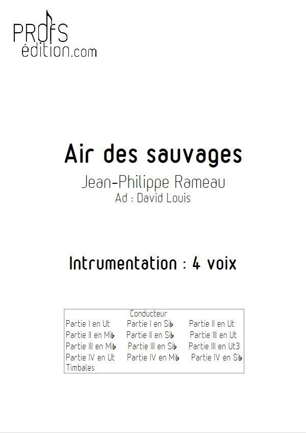 L'air des Sauvages - Ensemble Géométrie Variable - RAMEAU J. P. - front page