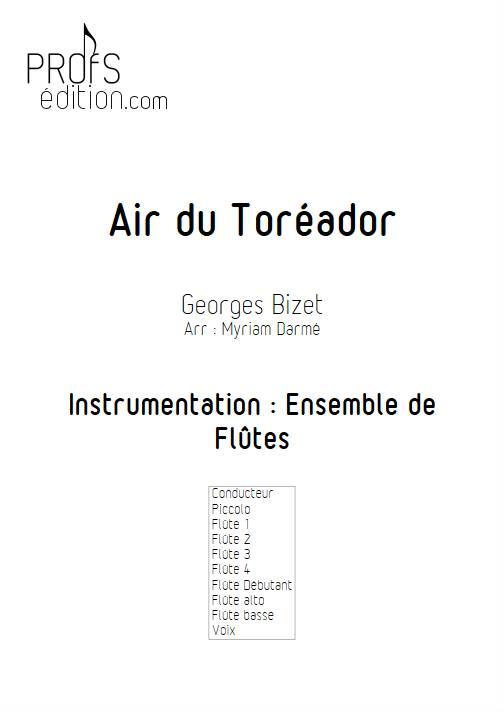 Air du Toréador - Ensemble de Flûtes - BIZET G. - front page