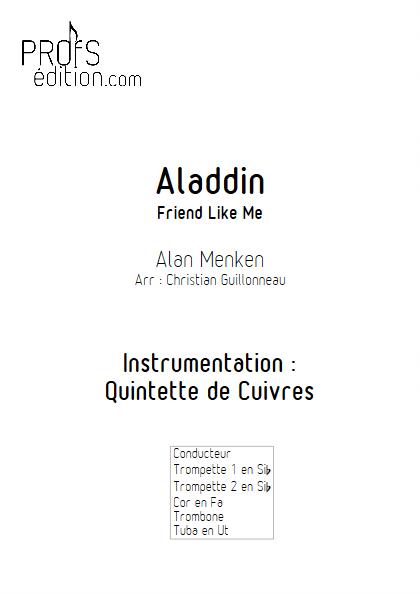 Aladdin (Je suis ton meilleur Ami) - Quintette de Cuivres - MENKEN A. - front page