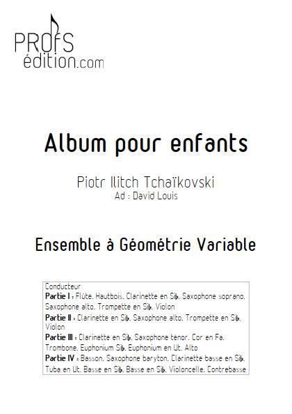 Album pour Enfants - Ensemble Variable - TCHAIKOVSKY P. I. - front page