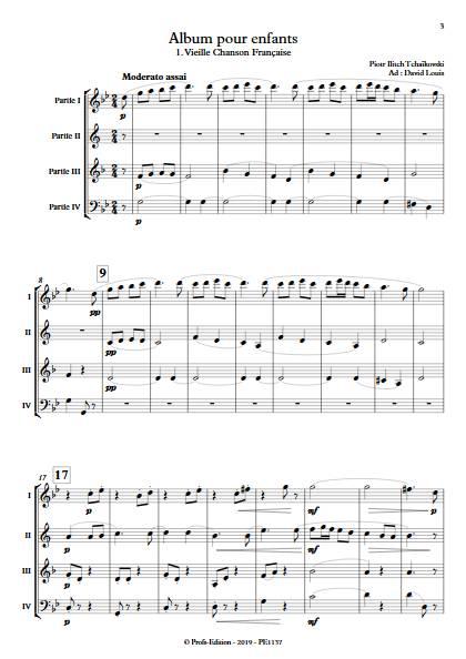 Album pour Enfants - Ensemble Variable - TCHAIKOVSKY P. I. - app.scorescoreTitle