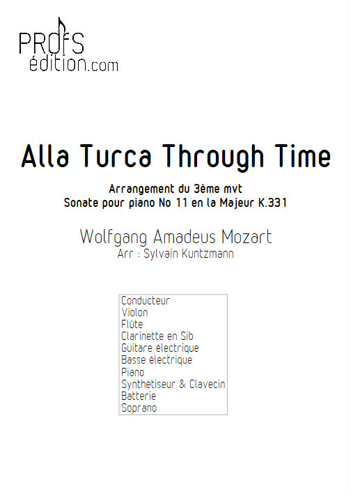 Alla Turka Through Time - Nonetto - MOZART W. A. - front page