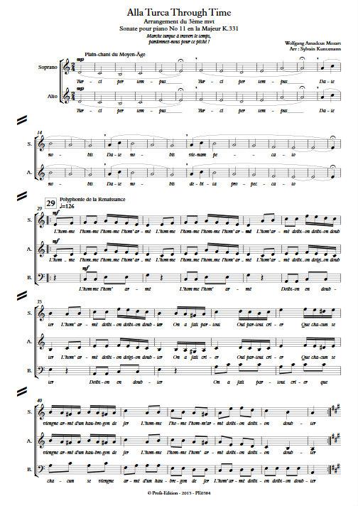 Alla Turka Through Time - Nonetto - MOZART W. A. - app.scorescoreTitle