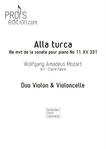 Alla Turca - Duo Violon & Violoncelle - MOZART W. A. - front page