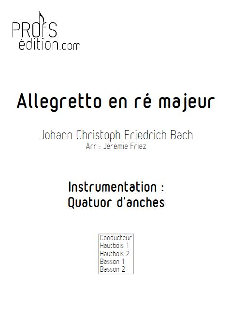 Allegretto en ré majeur - Quatuor d'anches - BACH J. C. F. - front page