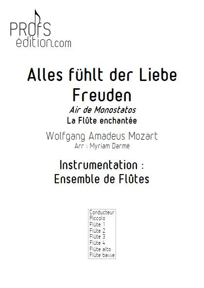 Alles fühlt des Liebe Monostatos - Ensemble de Flûtes - MOZART W.A. - front page
