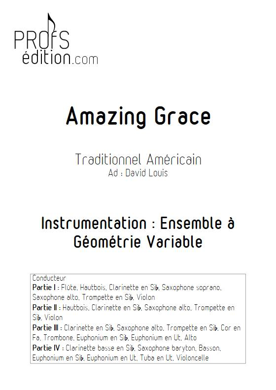 Amazing Grace - Ensemble Variable - TRADITIONNEL AMERICAIN - front page
