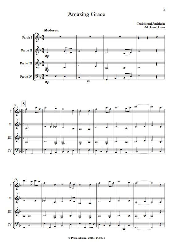 Amazing Grace - Ensemble Variable - TRADITIONNEL AMERICAIN - app.scorescoreTitle