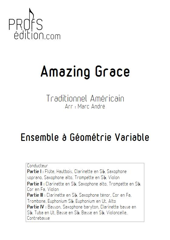 Amazing Grace - Ensemble Variable 2e Cycle - TRADITIONNEL AMERICAIN - front page