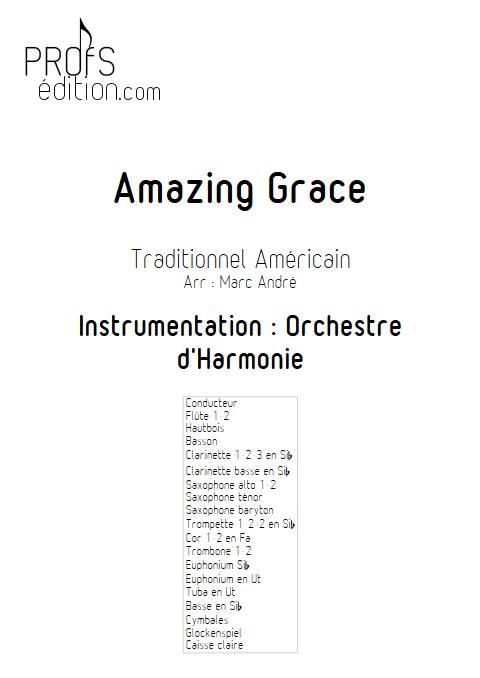 Amazing Grace - Orchestre d'Harmonie - TRADITIONNEL AMERICAIN - front page