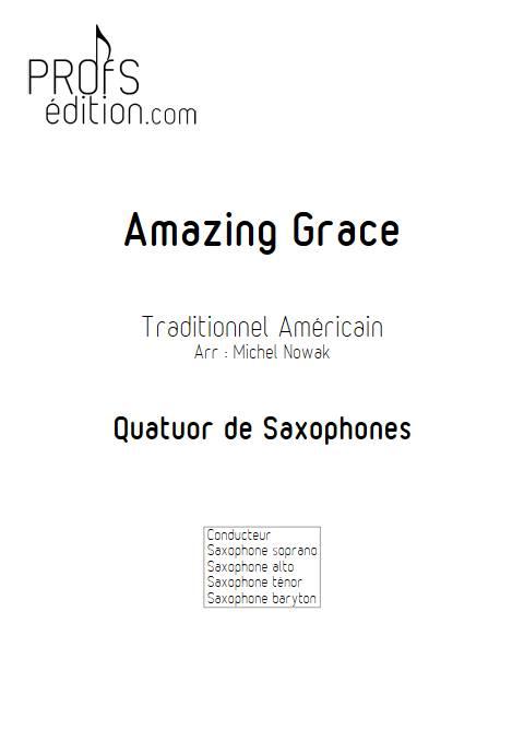 Amazing Grace - Quatuor de Saxophones - TRADITIONNEL AMERICAIN - front page