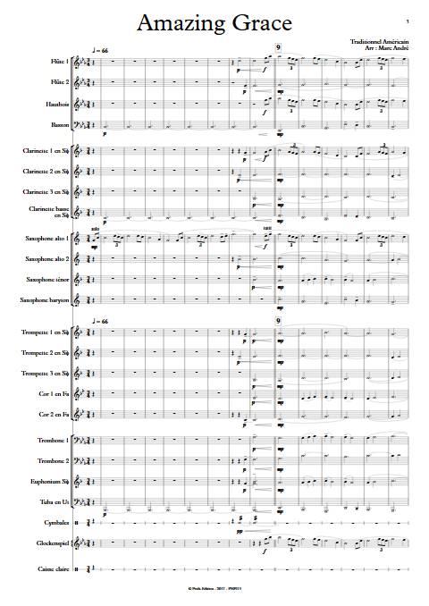 Amazing Grace - Orchestre d'Harmonie - TRADITIONNEL AMERICAIN - app.scorescoreTitle