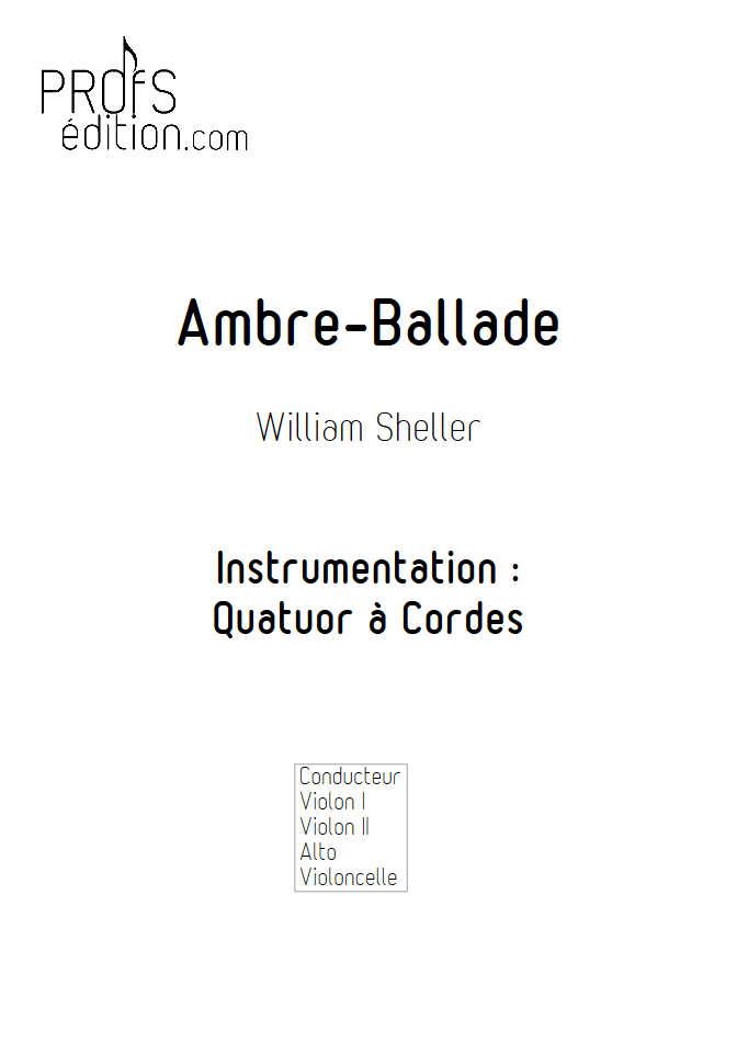 Ambre Ballade - Quatuor à Cordes - SHELLER W. - front page