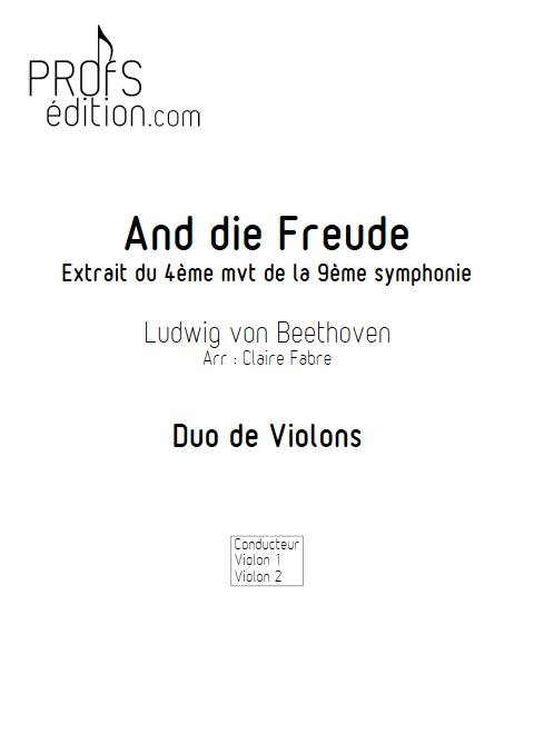 And die Freude - Duo de Violons - BEETHOVEN L. V. - front page