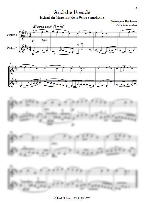 And die Freude - Duo de Violons - BEETHOVEN L. V. - app.scorescoreTitle