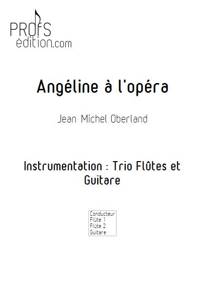 Angéline à l'Opéra - 2 flûtes et Piano - OBERLAND J. M. - front page