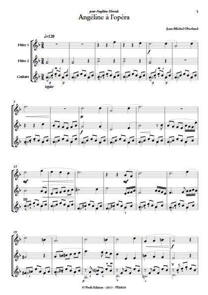 Angéline à l'Opéra - 2 flûtes et Piano - OBERLAND J. M. - app.scorescoreTitle