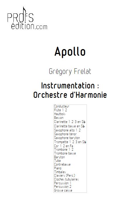 Apollo - Orchestre d'Harmonie - FRELAT G. - front page