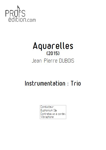 Aquarelles - Trio - DUBOIS J-P - front page