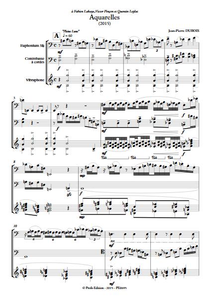 Aquarelles - Trio - DUBOIS J-P - app.scorescoreTitle
