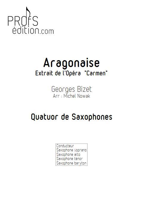 Aragonaise - Quatuor de Saxophones - BIZET G. - front page