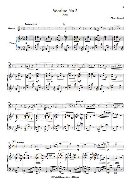 Aria - Duo Hautbois et Piano - ROUSSEL A. - app.scorescoreTitle