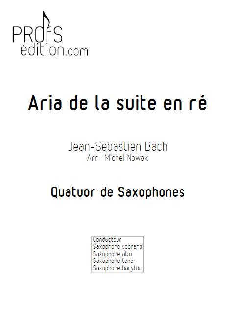 Aria suite en ré - Quatuor de Saxophones - BACH J. S. - front page