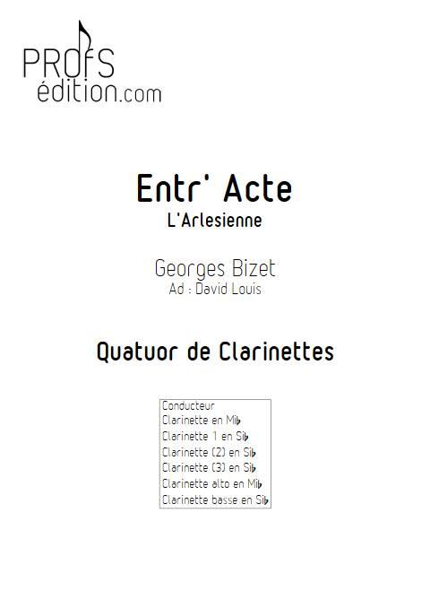 Entr'acte Arlesienne - Quatuor de Clarinettes - BIZET G. - front page