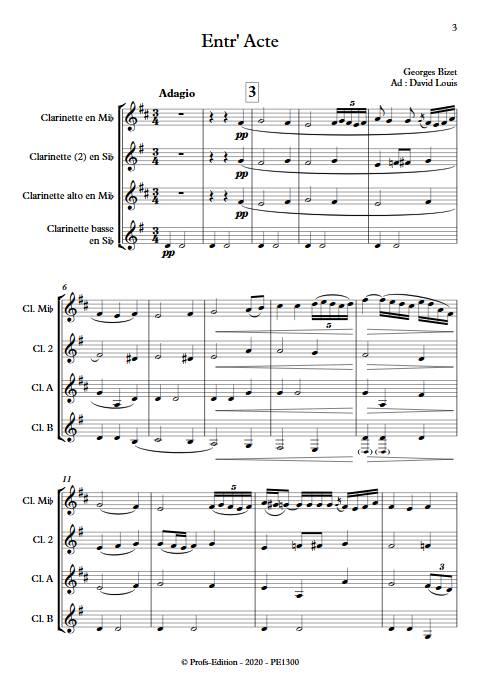 Entr'acte Arlesienne - Quatuor de Clarinettes - BIZET G. - app.scorescoreTitle