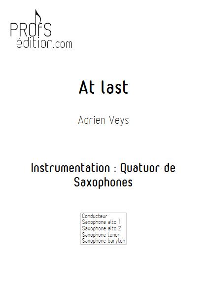 At last - Quatuor de Saxophones- VEYS A. - front page