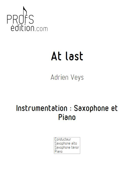 At last - Saxophone Piano - VEYS A. - front page