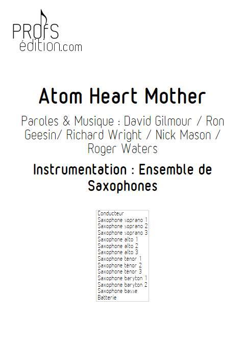 Atom Heart Mother - Ensemble de Saxophones - PINK FLOYD - front page